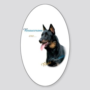 Beauceron Best Friend1 Oval Sticker
