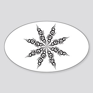 Tribal Snowflake Oval Sticker