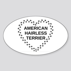 american hairless terrier paw heart Sticker