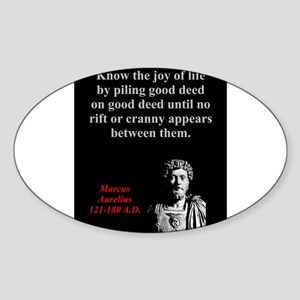 Know The Joy Of Life - Marcus Aurelius Sticker (Ov