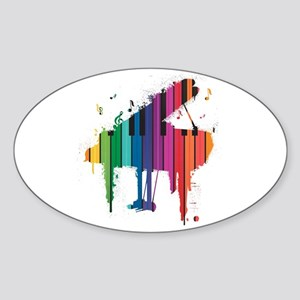Paint Splash Piano Sticker