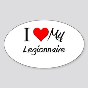 I Heart My Legionnaire Oval Sticker
