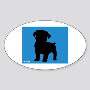 Schnoodle iPet Oval Sticker