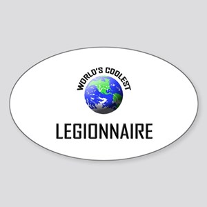 World's Coolest LEGIONNAIRE Oval Sticker