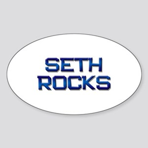 seth rocks Oval Sticker