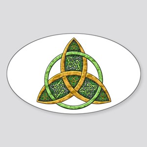 Celtic Trinity Knot Oval Sticker