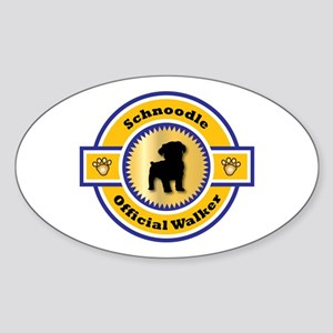 Schnoodle Walker Oval Sticker