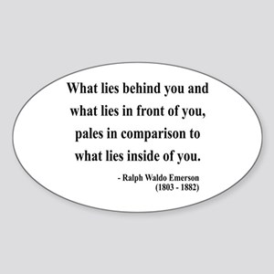 Ralph Waldo Emerson 11 Oval Sticker