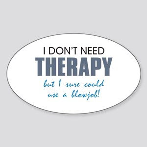 No Therapy Oval Sticker
