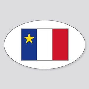 Flag of Acadia Sticker (Oval)