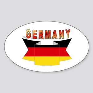 Germany flag Ribbon Oval Sticker