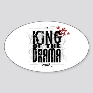 King of the Drama Oval Sticker