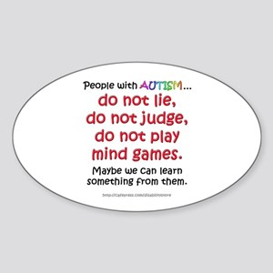No Games (People) Oval Sticker