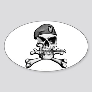 SAS Skull and Bones Oval Sticker