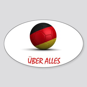 Uber Alles Oval Sticker