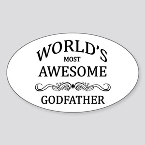 World's Most Awesome Godfather Sticker (Oval)