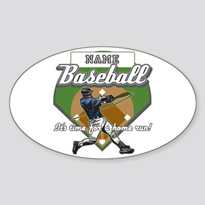 Personalized Home Run Time Sticker (Oval)