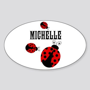 Cute Red | Black Ladybugs Name Sticker