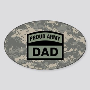 Proud Army Dad Camo Sticker (Oval)