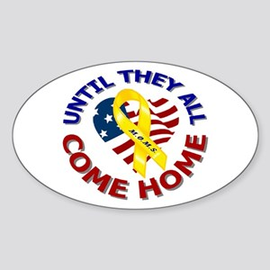 Until They All Come Home Oval Sticker