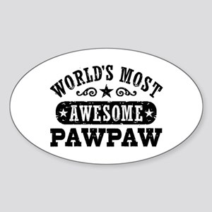 World's Most Awesome PawPaw Sticker (Oval)