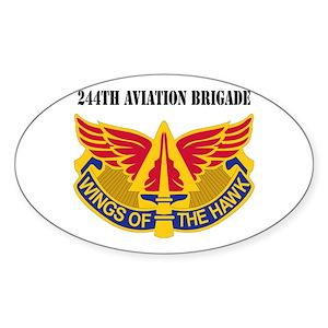 DUI - 244th Aviation Brigade with Text Sticker (Ov