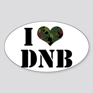 I Heart Drum & Bass Oval Sticker