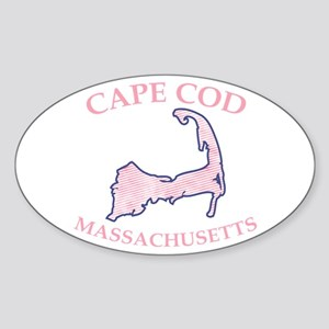 Preppy Pink Cape Cod Massachusetts Sticker