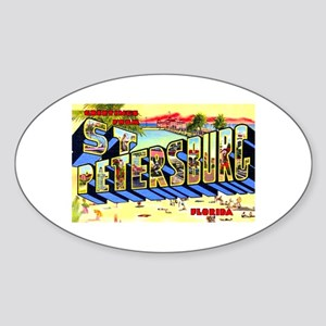 St Petersburg Florida Greetings Oval Sticker