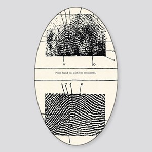 Fingerprint evidence, 1905 murder c Sticker (Oval)