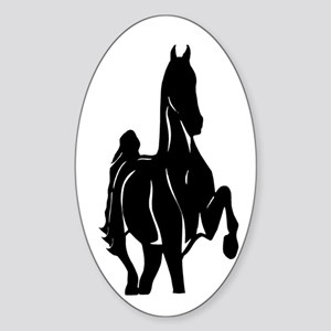 American Saddlebred Horse. Oval Sticker