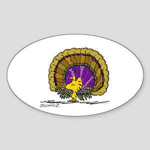 Woodstock Turkey Sticker (Oval)
