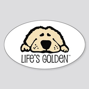 Life's Golden Oval Sticker