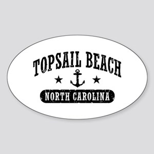 Topsail Beach NC Sticker (Oval)