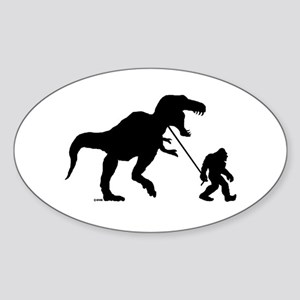 Gone Squatchin with T-rex Sticker