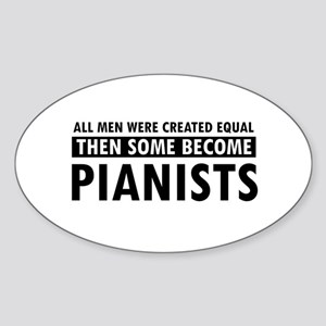 Pianists Designs Sticker (Oval)