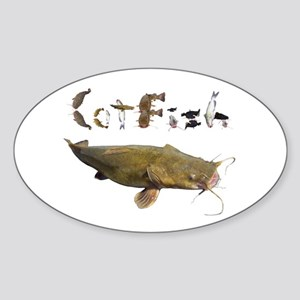 Catfish side font Sticker