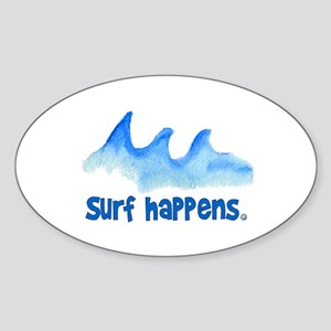SURF HAPPENS.. Oval Sticker