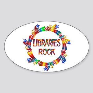Libraries Rock Sticker (Oval)