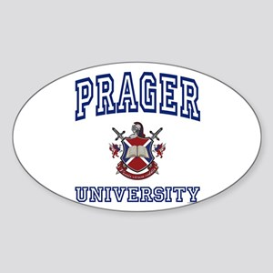 PRAGER University Oval Sticker