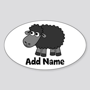 Sheep Farming Oval Stickers - CafePress