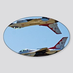 (15) Thunderbirds 5 and 6 Tail to T Sticker (Oval)