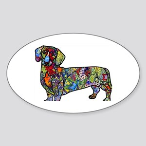 Wild Dachshund Sticker (Oval)
