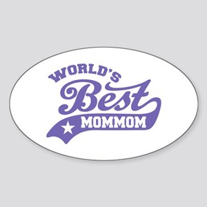 World's Best MomMom Sticker (Oval)