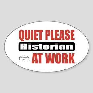 Historian Work Oval Sticker