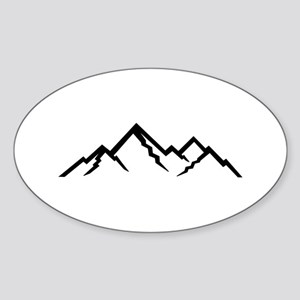Mountains Sticker (Oval)