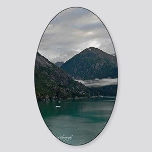 Tracey Arm Fjord Sticker (Oval)