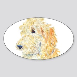 Cream Labradoodle 1 Sticker (Oval)