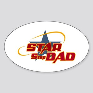 Star Step Dad Oval Sticker