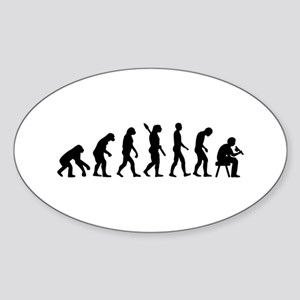 Tattoo artist evolution Sticker (Oval)